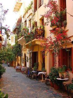 Sidewalk cafe, Crete Island,Greece