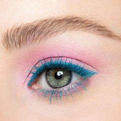 Urban Decay Tropfen Dual Ended Colorful Mascara Collection blau Wimperntusche rosa Lidschatten Pink Eye Makeup, Cute Makeup, Eyeshadow Makeup, Makeup Brushes, Yellow Eyeshadow, Maybelline Eyeshadow, Lipstick Dupes, Cheap Makeup, Gel Eyeliner