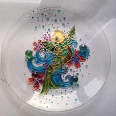 Купить Тарелка декоративная Рыбка - Тарелка декоративная, блюдо, тарелка, интерьерное украшение