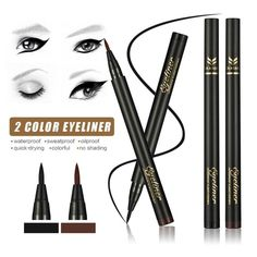1Pc Soft Eyes Liner Makeup Black Brown Ink Pen Liquid Eyeliner Pencil Waterproof Long Lasting Eye Cosmetic Y2