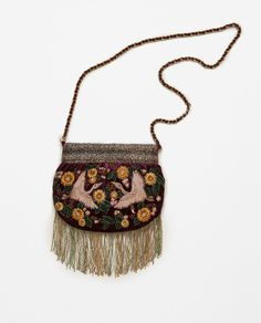 EMBROIDERED SMALL VELVET HANDBAG-View all-ACCESSORIES-WOMAN | ZARA United States