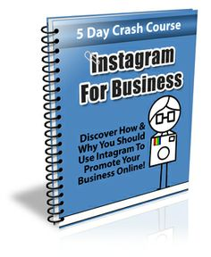 """Instagram For Business Comes with Private Label Rights!  """"Have you been looking for a great way to get more subscribers? Do you constantly seek quality information to provide to your readers? Have you been looking for a way to quickly increase awareness, traffic and profits for your business?"""""""