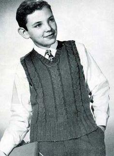 Boy's Sleeveless Sweater Pattern #406 | Knitting Patterns