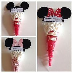 Mickey Mouse And Minnie Pre Filled Sweet Cones Party Bags Birthdays - Fiesta casera Mickey Mouse Theme Party, Fiesta Mickey Mouse, Mickey Mouse Clubhouse Birthday, Mickey Birthday, 2nd Birthday, Minnie Mouse Favors, Birthday Ideas, Mickey Mouse Cake Decorations, Mickey Mouse Food