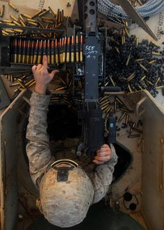 Capable against enemy personnel, light armored vehicles and even low-flying planes, the .50 caliber machine gun provides Marines fire for offensive and defensive purposes.
