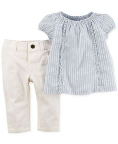 Carter's Baby Girls' 2-Piece Stripe Tunic & Jeggings Set