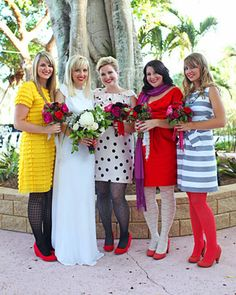 bridesmaids wearing whatever the f they want, and they look happy and amazing.