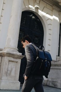"""Wearing Aigner Munich Backpack """"Bruno"""" and the active suit from Digel Move. Jersey fabrics for a comfy business look!"""