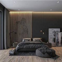 Y U V A I N T E R I O R S on What do you think of this dark bedroom design Designed and visualized By archirendertr Just in love Tell me what do you think Luxury Bedroom Design, Home Room Design, Master Bedroom Design, Home Interior Design, Bedroom Designs, Modern Luxury Bedroom, Lobby Interior, Interior Designing, Interior Paint