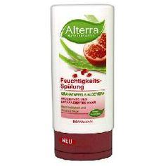 Rossmann, Alterra, Feuchtigkeits - Spulung Granatapfel & Aloe Vera (Nawilżająca odżywka `Granat i aloes`)
