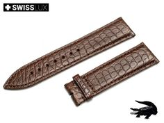 Genuine Crocodileleather Strap for ROLEX watches (for tongue buckle or clasp). Watch band is made of premium quality crocodile leather with a matt finish. Crocodile, Watch Bands, Omega Watch, Rolex Watches, Brown, Leather, Accessories, Ebay, Crocodiles