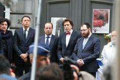 Renzi, con Hollande e Di Rupo, ha visitato il Museo Ebraico di Bruxelles
