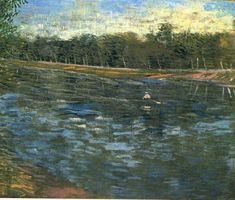 Vincent van Gogh — The Seine with a Rowing Boat, 1887, Vincent van...