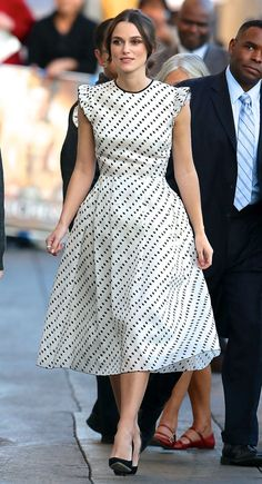 Keira Knightley Stunned in Polka Dot Erdem Dress