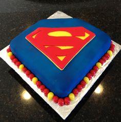 Superman Cake! Had so much fun making this!