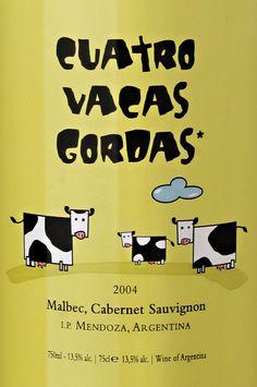 Winebranding - Cuatro Vacas Gordas - Four Fat Cows