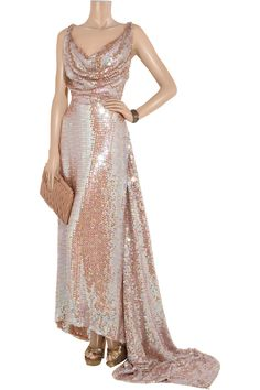 Long Savannah sequined net gown by Vivienne Westwood Gold Label