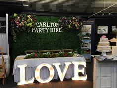 LOVE marquee lights Greenery Back Drop Cross Back Chairs Carlton Party Hire Hamilton
