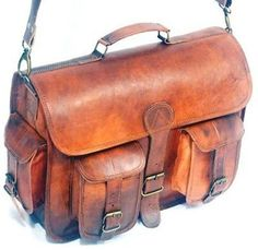 $100 LEATHER BAG 15 x 11 leather satchel leather by NADOLCRAFT on Etsy