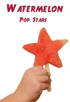 Watermelon Pop Stars ~ these patriotic watermelon pops will make a great addition to your 4th of July Celebrations! #4thofjuly #watermelon