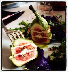 Mille feuilles de figues au chèvre Saint-Maure de Touraine - Recettes de cuisine Ôdélices