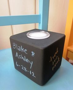 Chalkboard Candle - Teacher Gift, Wedding table, Grandmother gift, Hostess gift.