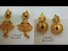 Stud Gold Earrings Designs with Price and Weight || Gold Studs Designs || 2020 - YouTube Real Diamond Earrings, Gold Jhumka Earrings, Buy Earrings, Jewelry Design Earrings, Gold Earrings Designs, Necklace Designs, Fashion Earrings, Gold Necklace, Gold Chain Design