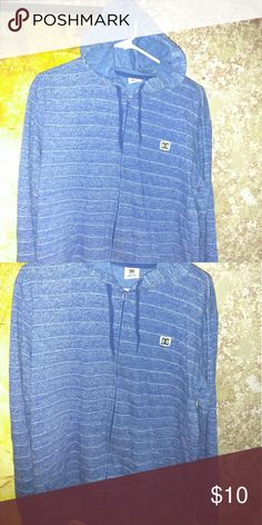 DC zip up hoodie DC shoes inc. blue zip up sweater / hoodie in perfect condition.   Large DC Sweaters Zip Up