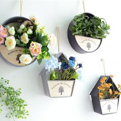 Iron Planter & Artificial Flowers