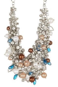 Luxe Pearl & Crystal Cluster Necklace by Fashion Forward: Bold Necklaces on @HauteLook