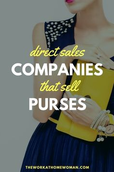 Are you looking for a home-based business that doesn't involve a lot of research and setup? If so, you're a perfect fit to sell purses from home! Legit Work From Home, Work From Home Moms, Make Money From Home, Business Essentials, Business Tips, Business Women, Direct Sales Companies, Home Based Business Opportunities, Drop Shipping Business
