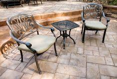 Patio Flooring: Trends in Concrete Patios Paving Stone Patio, Concrete Pavers, Stamped Concrete, Poured Concrete, Paving Stones, Concrete Design, Concrete Blocks, Cement, Tulum