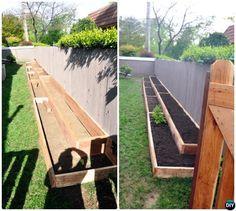 DIY Fence Line Raised Garden Bed-20 DIY Raised Garden Bed Ideas Instructions