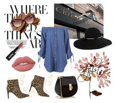 """""""The Stylist"""" by laurenleigh-bee on Polyvore featuring Christian Louboutin, Chloé, Eugenia Kim, Sam Edelman, Lime Crime, Bobbi Brown Cosmetics and Humble Chic"""