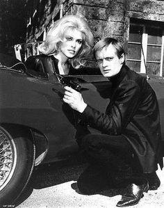 Sharon Tate and David McCallum Sharon Tate, Spy Shows, Old Tv Shows, Roman Polanski, Man From Uncle Tv, Codename U.n.c.l.e, David Mccallum, E Type, Classic Tv