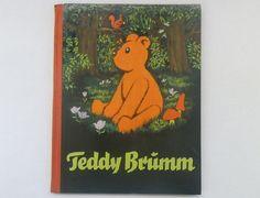 Vintage German picture book. Teddy Brumm, 1957