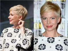 michelle williams pixie style | For more style inspiration visit 40plusstyle.com