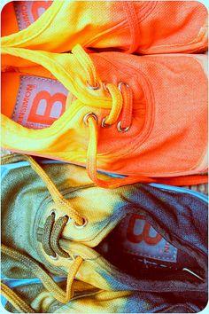 DIY sneakers Bensimon / DIY tennis en toile / tie and dye
