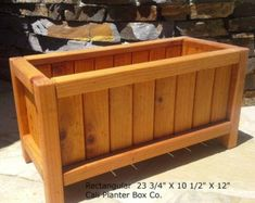 Beautiful Solid Redwood Planter Boxes This is our medium rectangular planter box. Its lightweight ye Large Planter Boxes, Rectangular Planter Box, Outdoor Planter Boxes, Long Planter, Cedar Planter Box, Rustic Planters, Succulent Planter Diy, Wood Planter Box, Raised Planter
