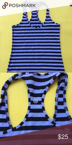 Cool racerback Lululemon cool racerback back. Fun stripes. No pulling great condition. lululemon athletica Tops Tank Tops