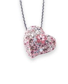 ♥♥♥beautiful pink heart pendant♥♥♥