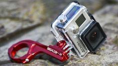 Best GoPro camera ultimate action cams and the best GoPro accessories - Go Pro - Ideas of Go Pro for sales. - This looks sturdy (doesn't mean it is just feels that way. like rock climbing carabiners) Best Gopro Camera, Gopro Action, Camera Gear, Leica Camera, Nikon Dslr, Film Camera, Gopro Photography, Video Photography, Deporte
