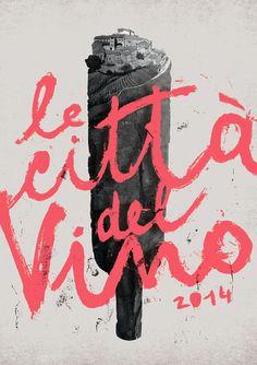 poster / le città del vino #Calligraphy #typography