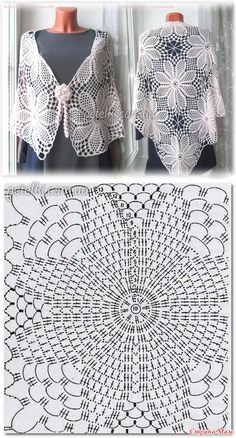 - Her Crochet Crochet Diagram, Crochet Chart, Crochet Motif, Crochet Designs, Crochet Lace, Crochet Stitches, Crochet Patterns, Shawl Patterns, Square Patterns