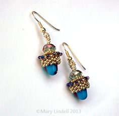 Turquoise Gumdrop Earrings by Mary Lindell