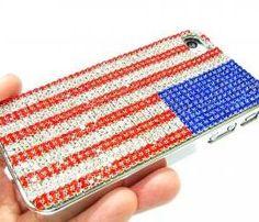 US Flag Metal Iphone Case