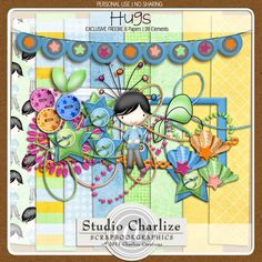 Hugs #freebie full kit from Studio Charlize #scrapbook #digiscrap #scrapbooking #digifree #scrap