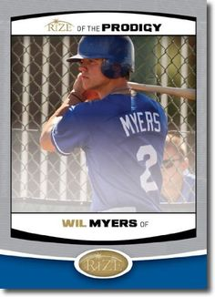 a2f8df50d 2012 RIZE Draft Prodigy Paragon Card  P-14 Wil Myers - Kansas City Royals   Tampa  Bay Rays (Rookie   Prospect Insert) MLB Baseball Trading Cards by RIZE ...