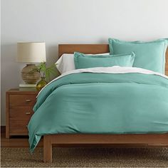 I chose this bamboo and cotton duvet cover because it is made from a sustainable material and it's organic.