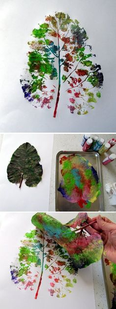 Herbstblätter – kreative Deko- und Bastel-Ideen – Haus Dekoration Mehr – Keep up with the times. Fall Crafts For Toddlers, Toddler Crafts, Diy Crafts For Kids, Activities For Kids, Arts And Crafts, Craft Ideas, Autumn Crafts, Autumn Art, Nature Crafts